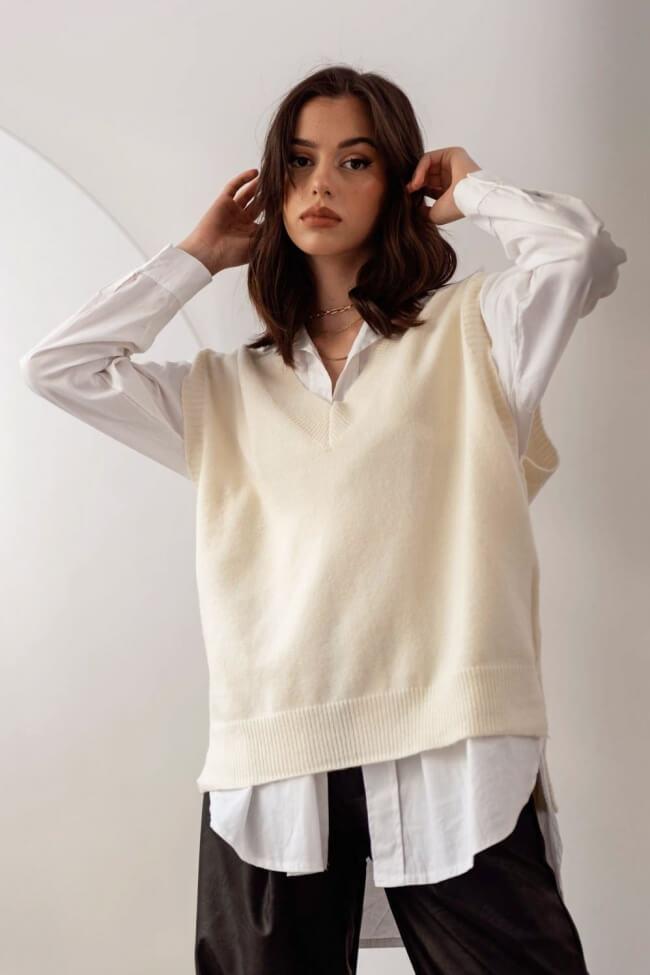 Αμάνικη Μπλούζα Μάλλινη