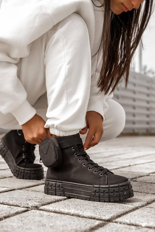 Sneakers Δίσολα με Διακοσμητικό & Αποσπώμενο Τσαντάκι