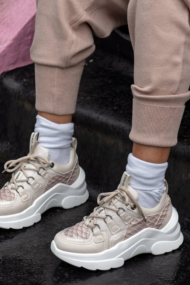 Chunky Sneakers με Λεπτομέρεια Δίχτυ