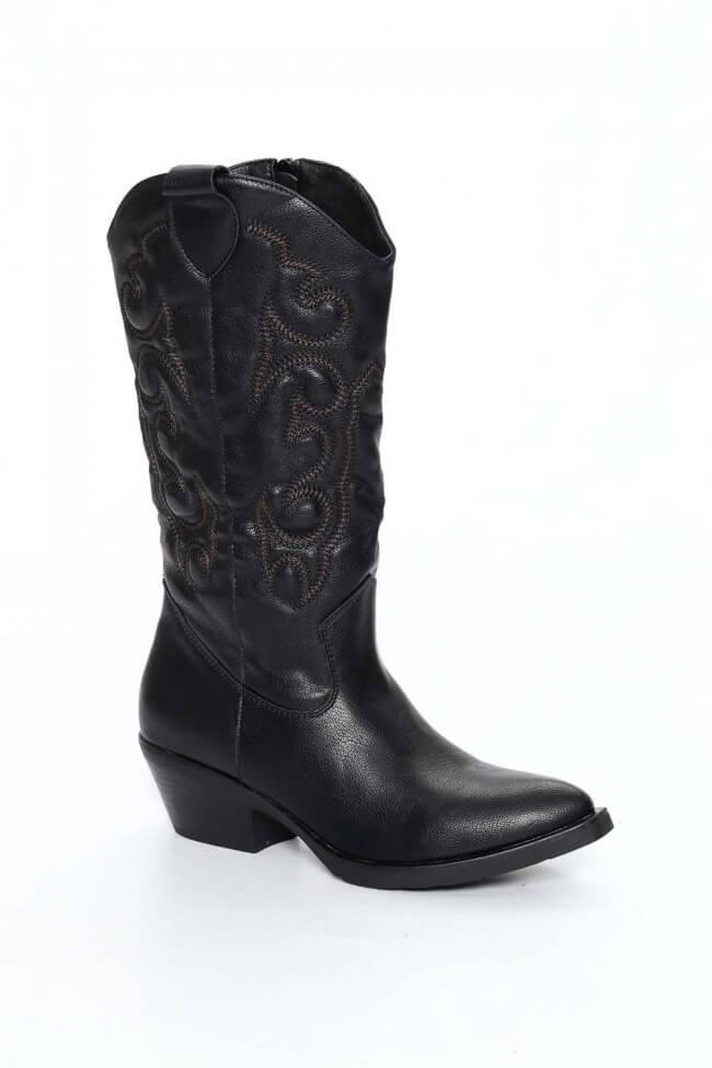 Cowboy Μπότες με Κέντημα