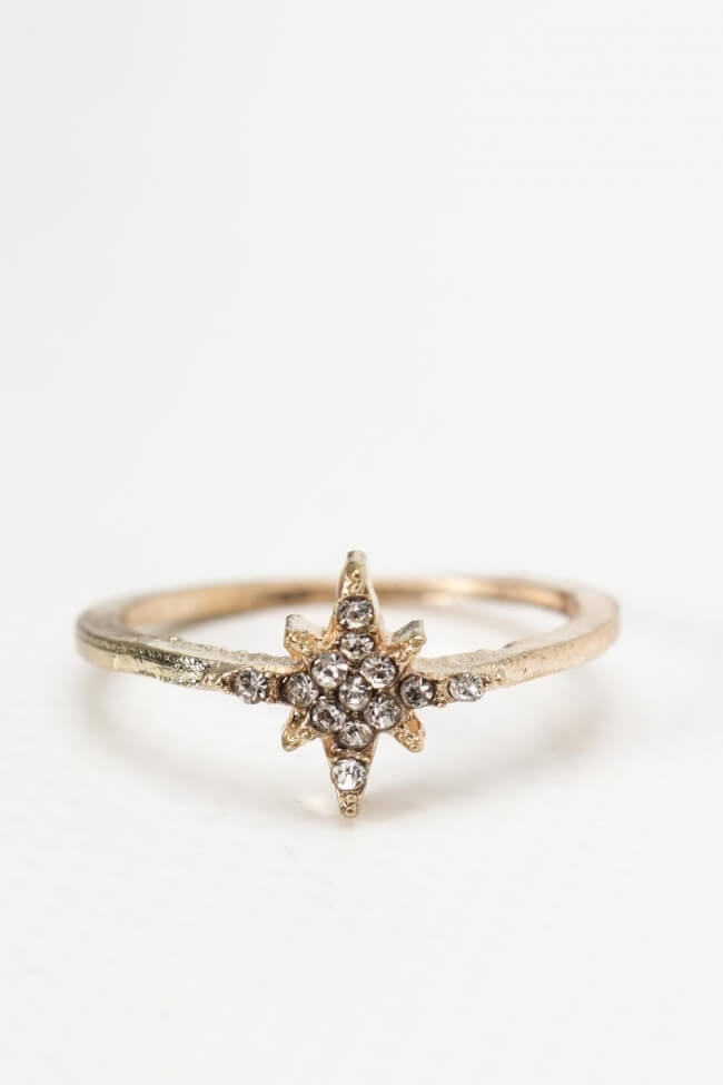 Δαχτυλίδι Αστέρι με Strass
