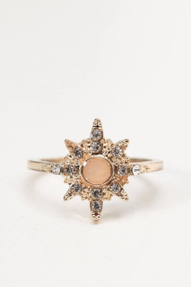 Δαχτυλίδι Αστέρι & Strass