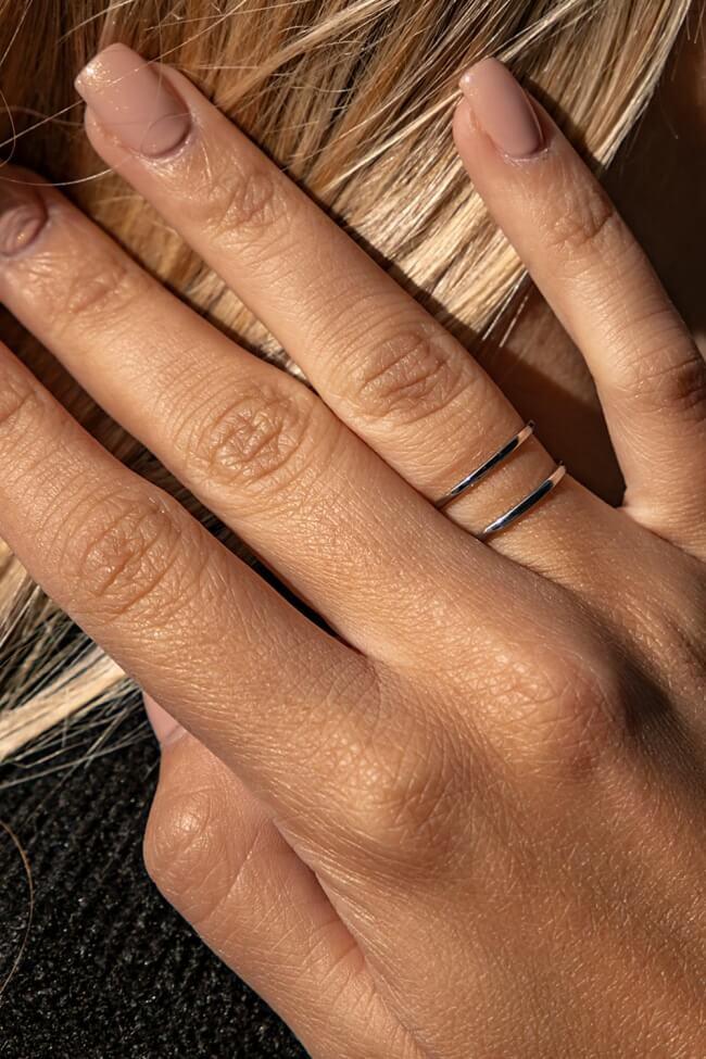 Δαχτυλίδι Διπλό με Άνοιγμα