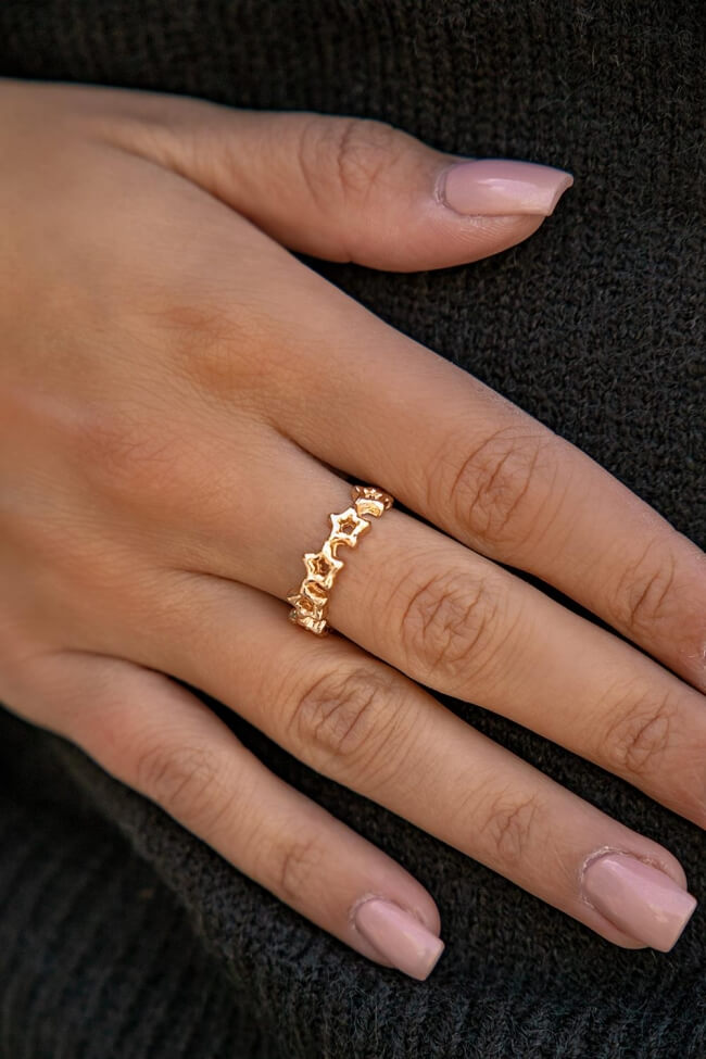Δαχτυλίδι με Αστέρια