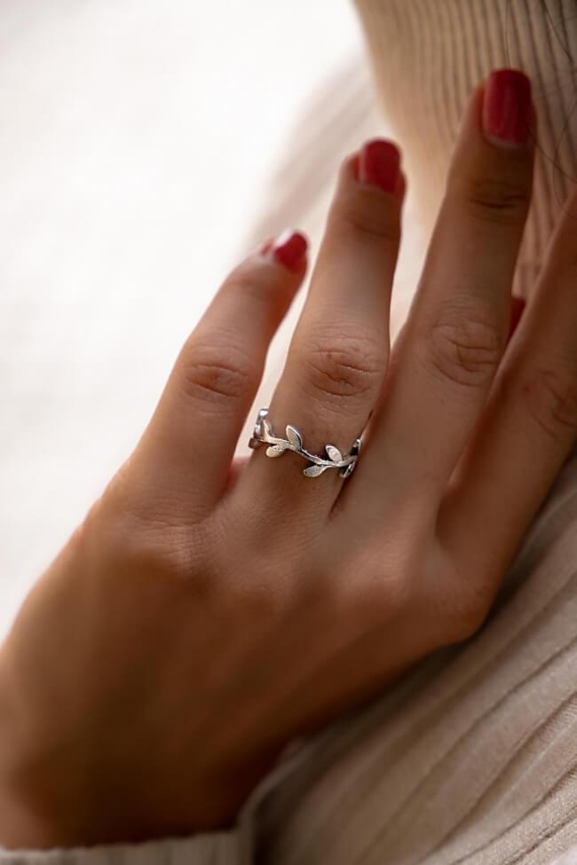 Δαχτυλίδι με Φύλλα