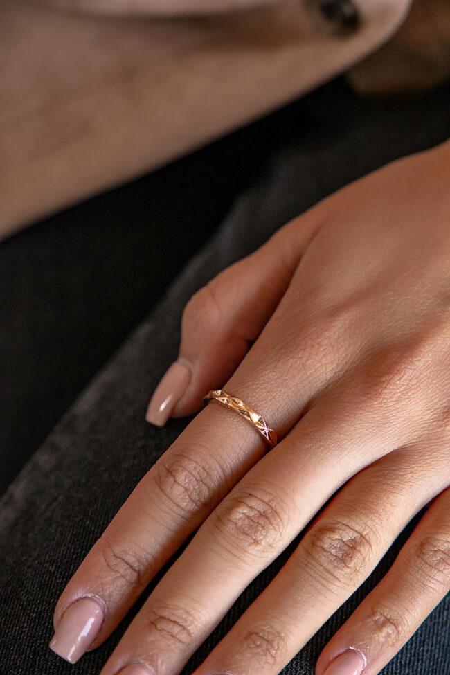 Δαχτυλίδι με Γεωμετρικό Μοτίβο