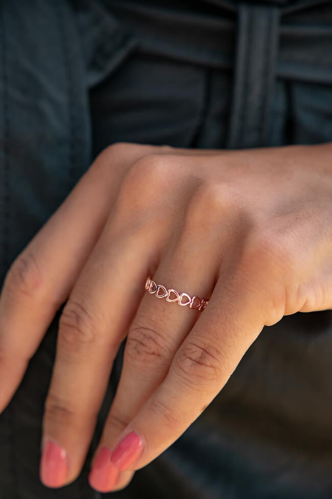 Δαχτυλίδι με Καρδιές