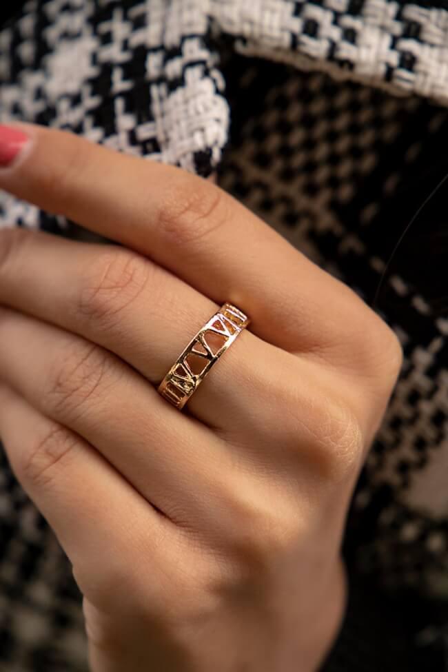 Δαχτυλίδι με Λατινικούς Αριθμούς