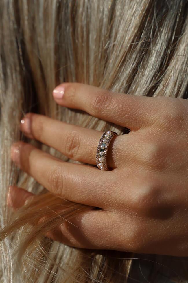 Δαχτυλίδι με Πέρλες