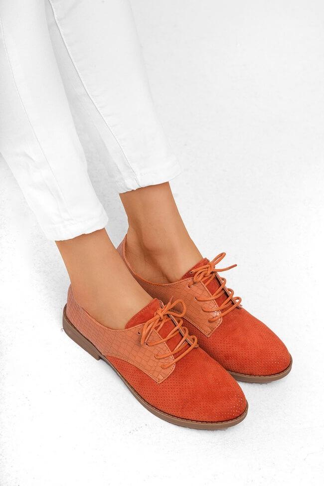 Δετά Παπούτσια σε Συνδυασμό Croco