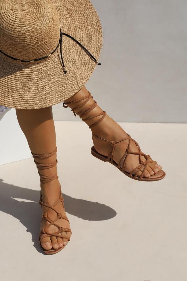 Flat Σανδάλια Lace Up