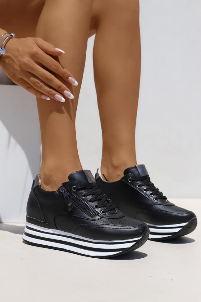 Flatform Sneakers με Φερμουάρ