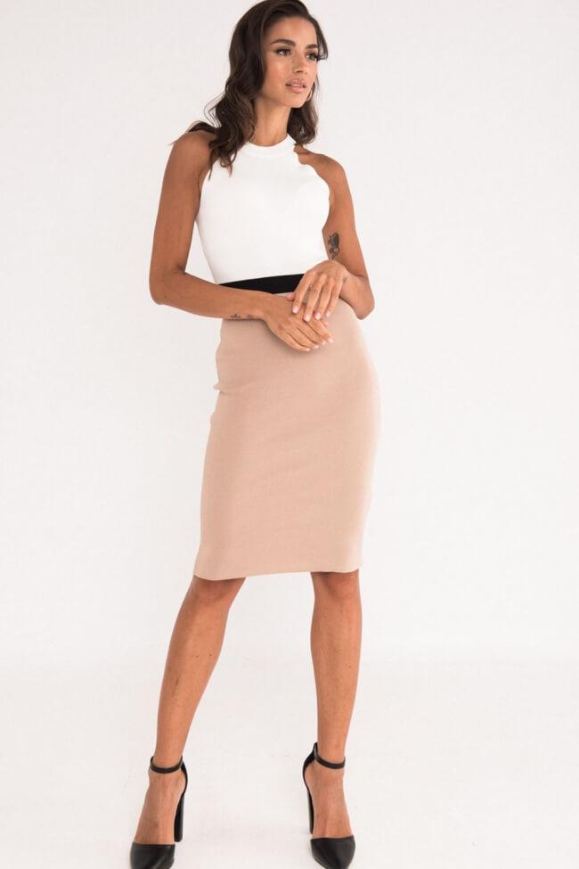 Φόρεμα Αμάνικο Εφαρμοστό