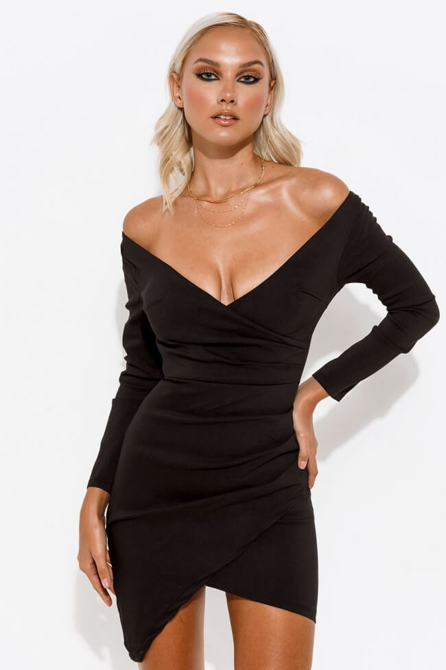 Φόρεμα Ελαστικό με Πιέτες