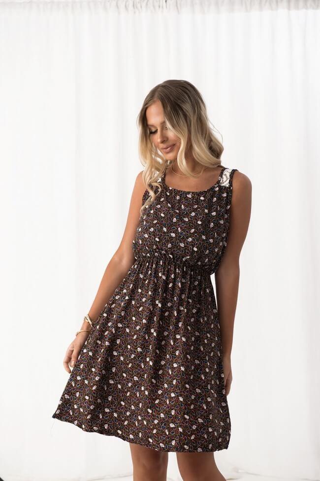 Φόρεμα Floral - Μαύρο