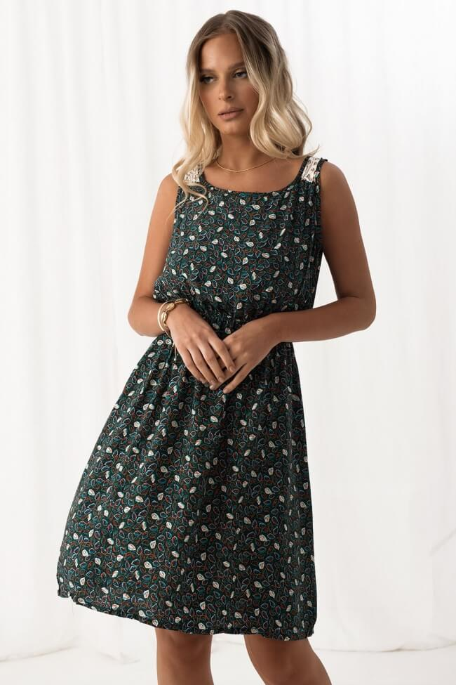 Φόρεμα Floral - Πράσινο