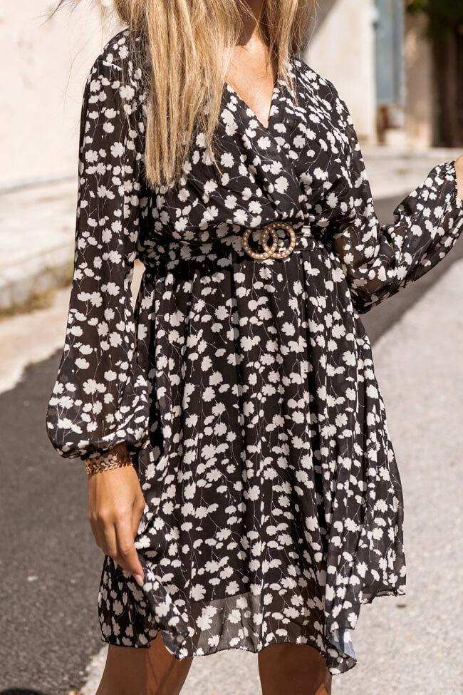 Φόρεμα Floral με Ζώνη