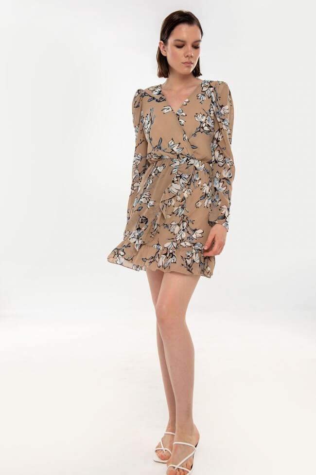 Φόρεμα Κρουαζέ Floral με Βάτες
