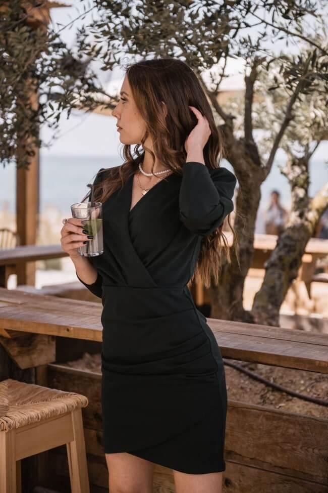 Φόρεμα Κρουαζέ με Πιέτες
