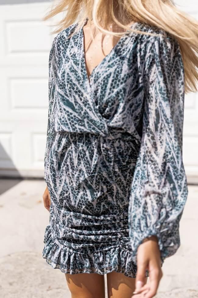 Φόρεμα Κρουαζέ με Σούρες