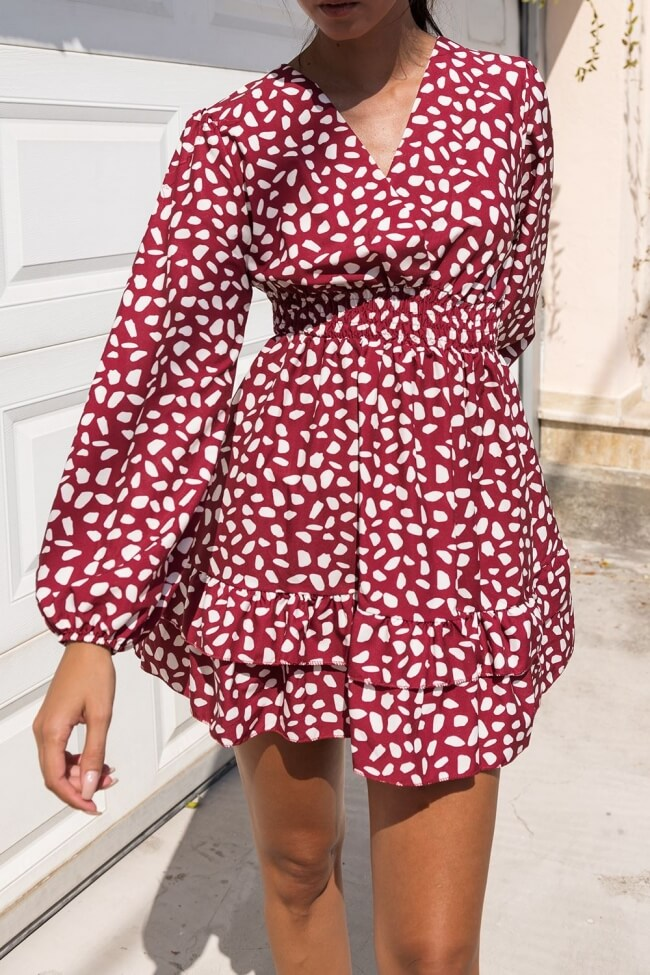 Φόρεμα Κρουάζε με Βόλαν