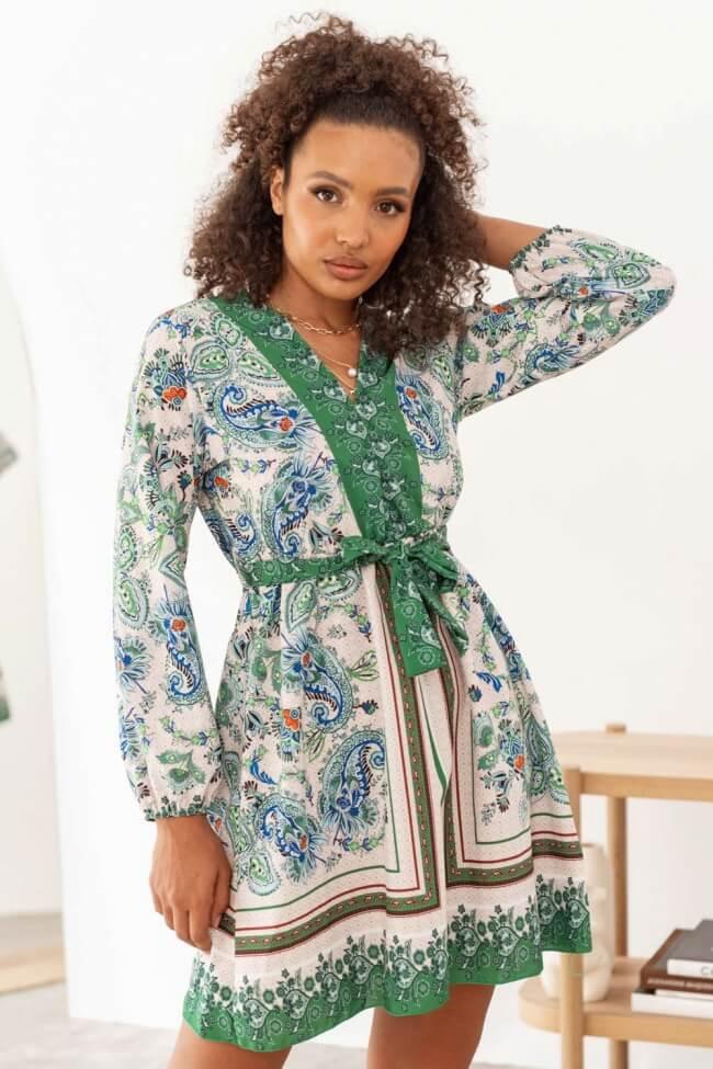 Φόρεμα Λαχούρ με Ζωνάκι