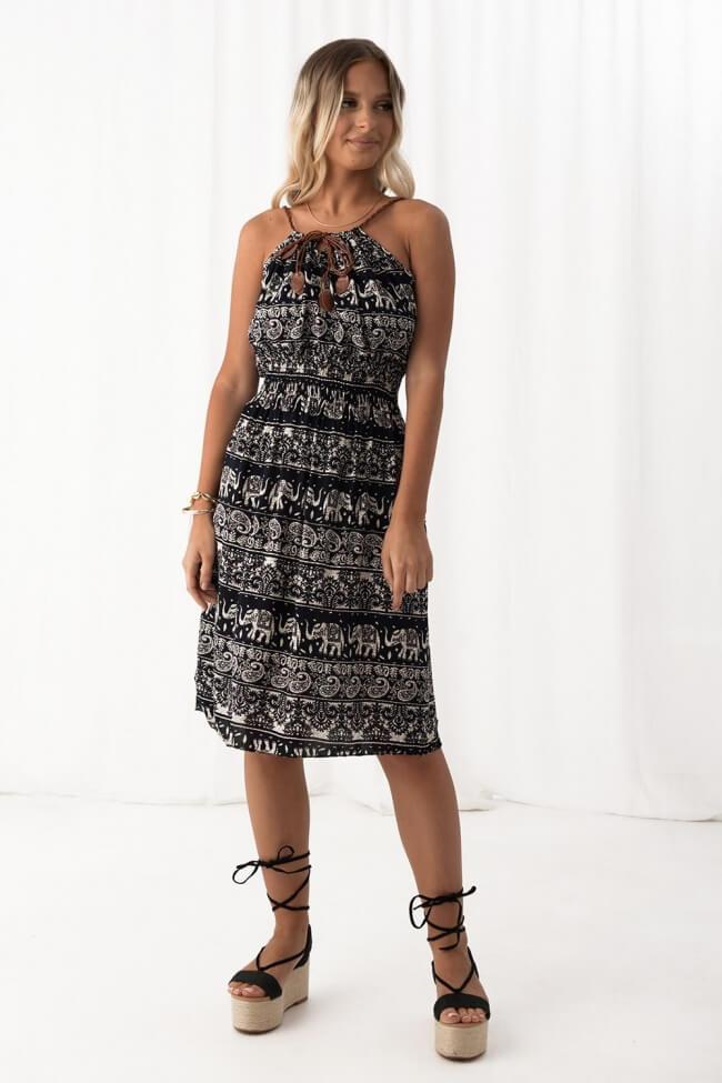 Φόρεμα Λαχούρι με Κορδόνι