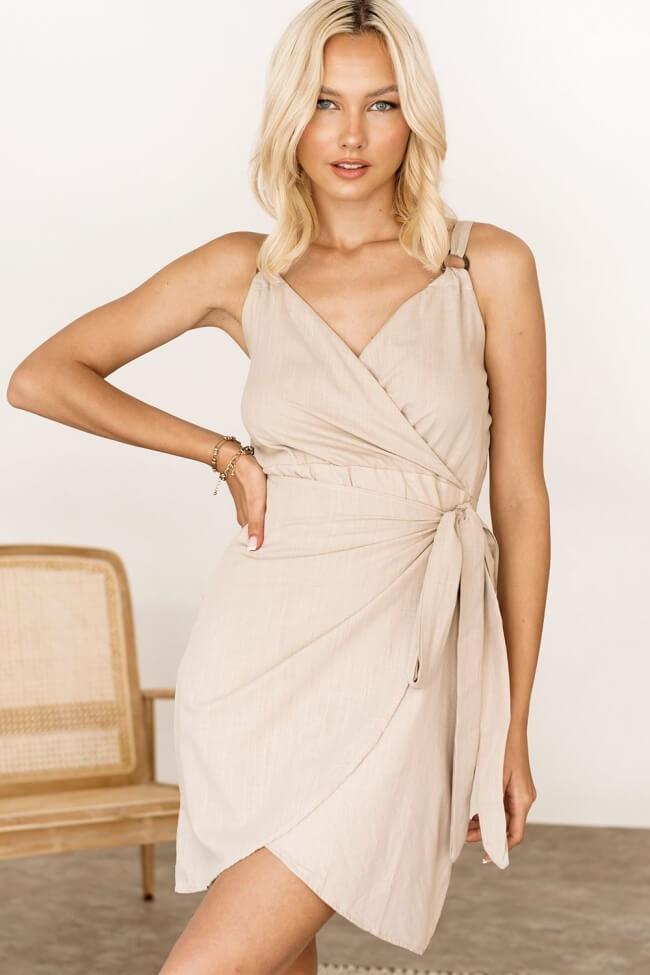 Φόρεμα Λινό Κρουαζέ