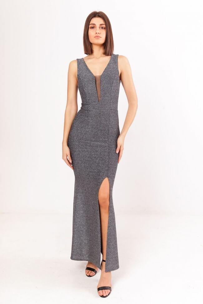 Φόρεμα Lurex με Άνοιγμα