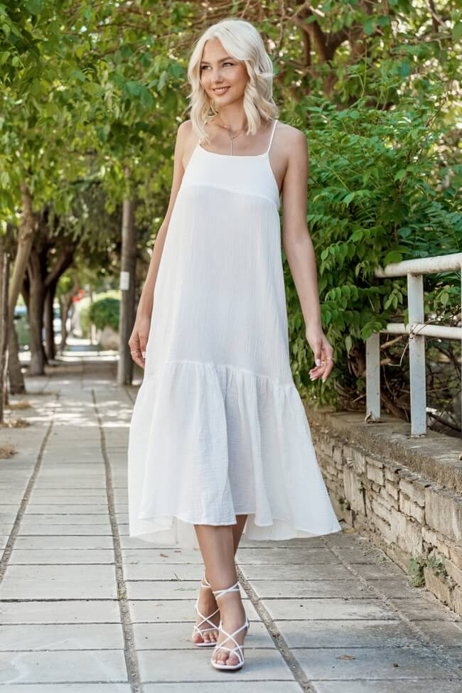 Φόρεμα Μακρύ Λευκό