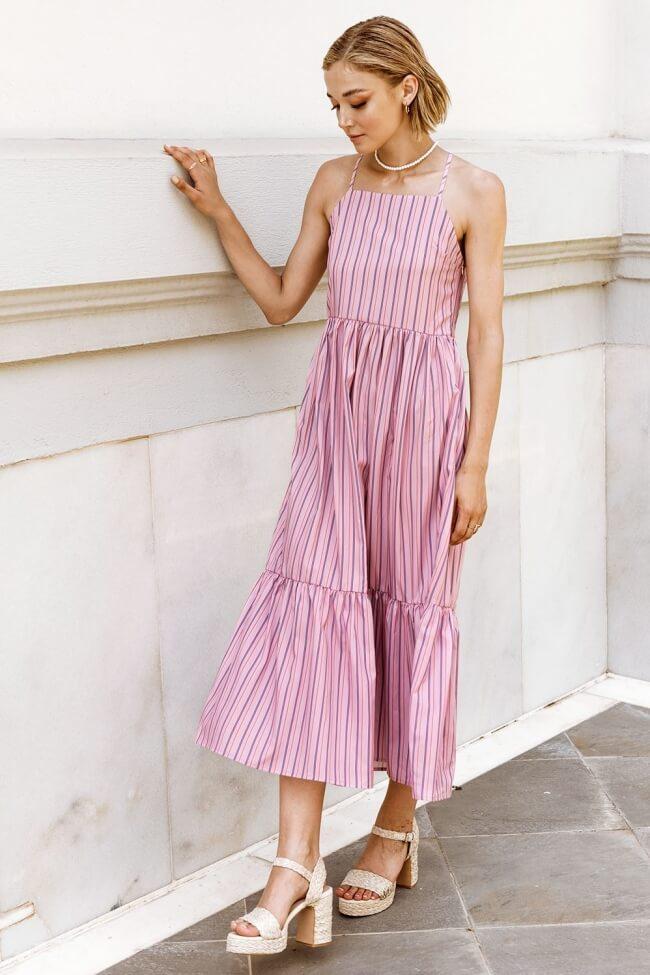 Φόρεμα Μακρύ με Ρίγες