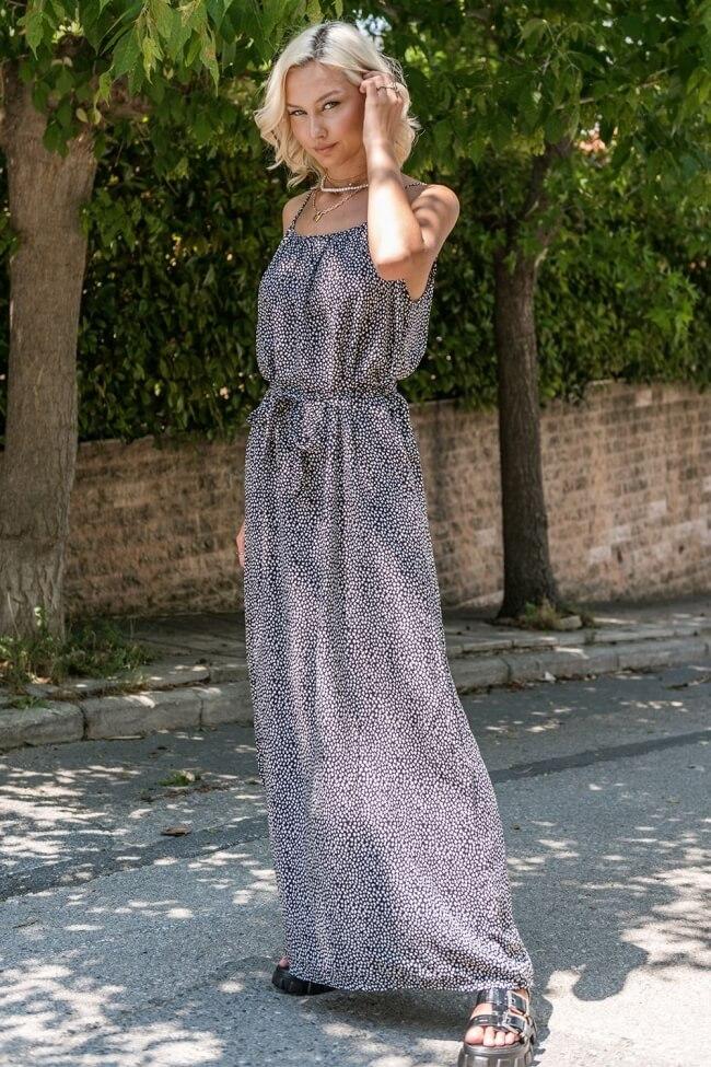 Φόρεμα Μακρύ με Ζωνάκι