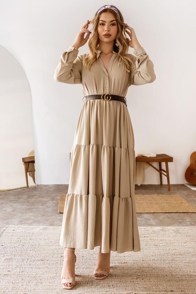 Φόρεμα Maxi Closs με Ζωνάκι