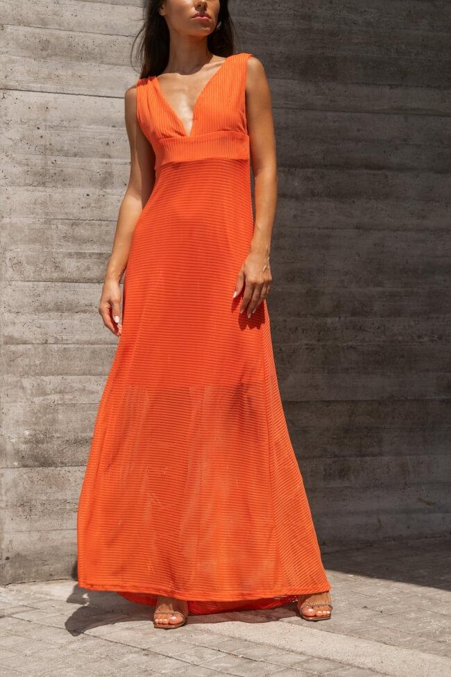 Φόρεμα Maxi με Διαφάνεια