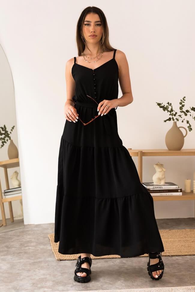 Φόρεμα Maxi με Κουμπάκια