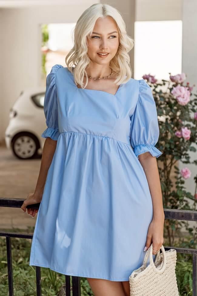 Φόρεμα με Balloοn Μανίκια