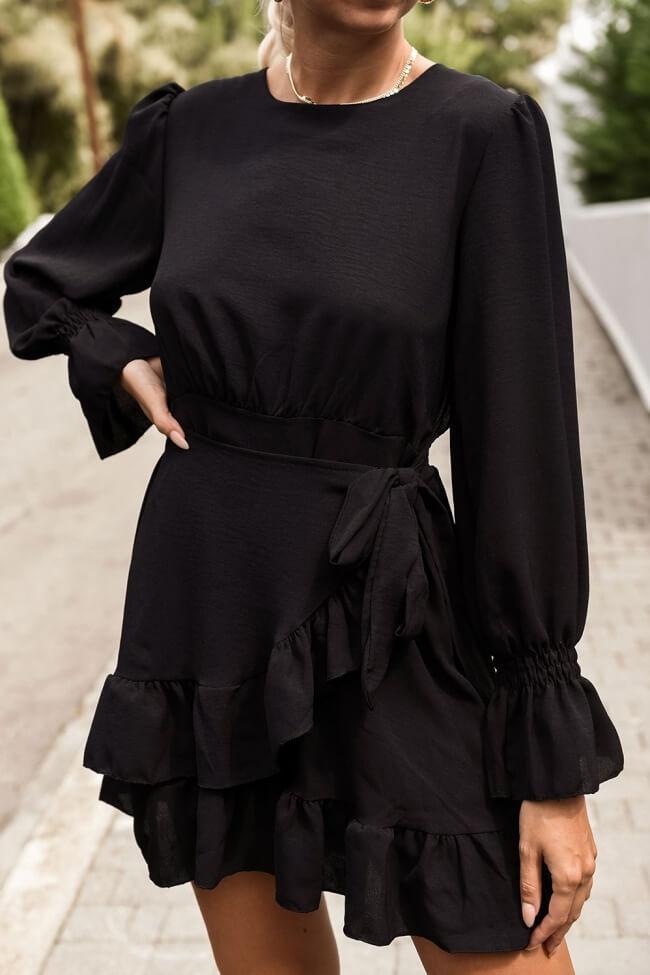 Φόρεμα με Δέσιμο στο Πλάι & Βολάν