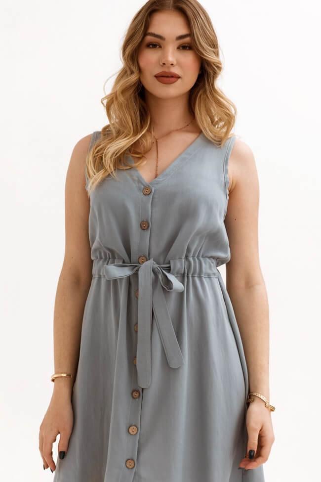 Φόρεμα με Κουμπιά και Ζωνάκι στη Μέση