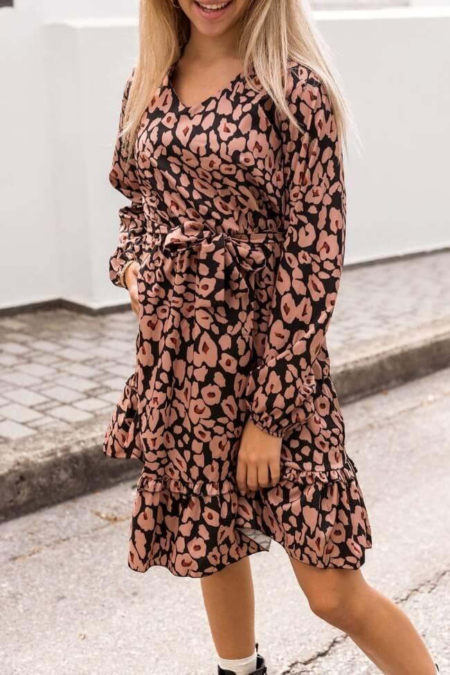 Φόρεμα με Μοτίβο & Βολάν