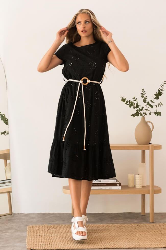 Φόρεμα με Σχέδιο Κοφτό A-Line και Λευκή Φόδρα
