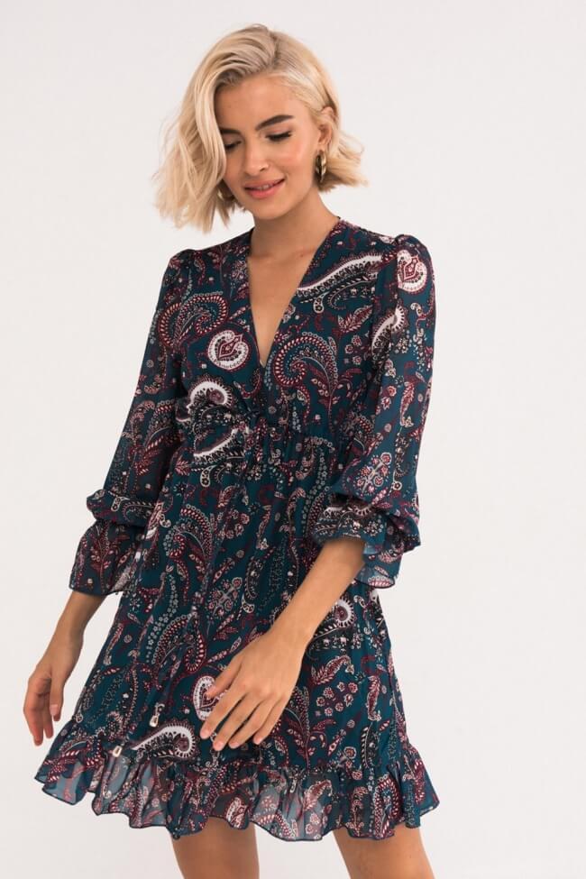 Φόρεμα με Βολάν & Λαχούρια
