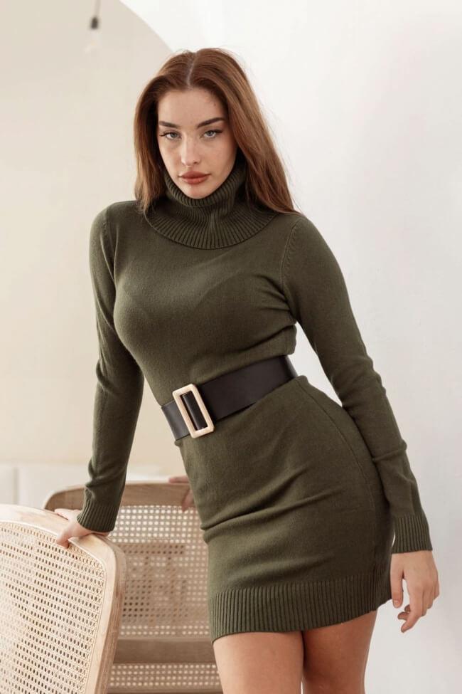 Φόρεμα Midi Μάλλινο Ζιβάγκο
