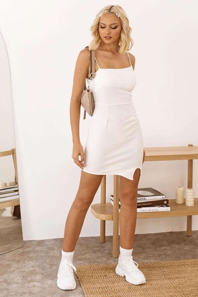 Φόρεμα Mini Ελαστικό με Σκίσιμο