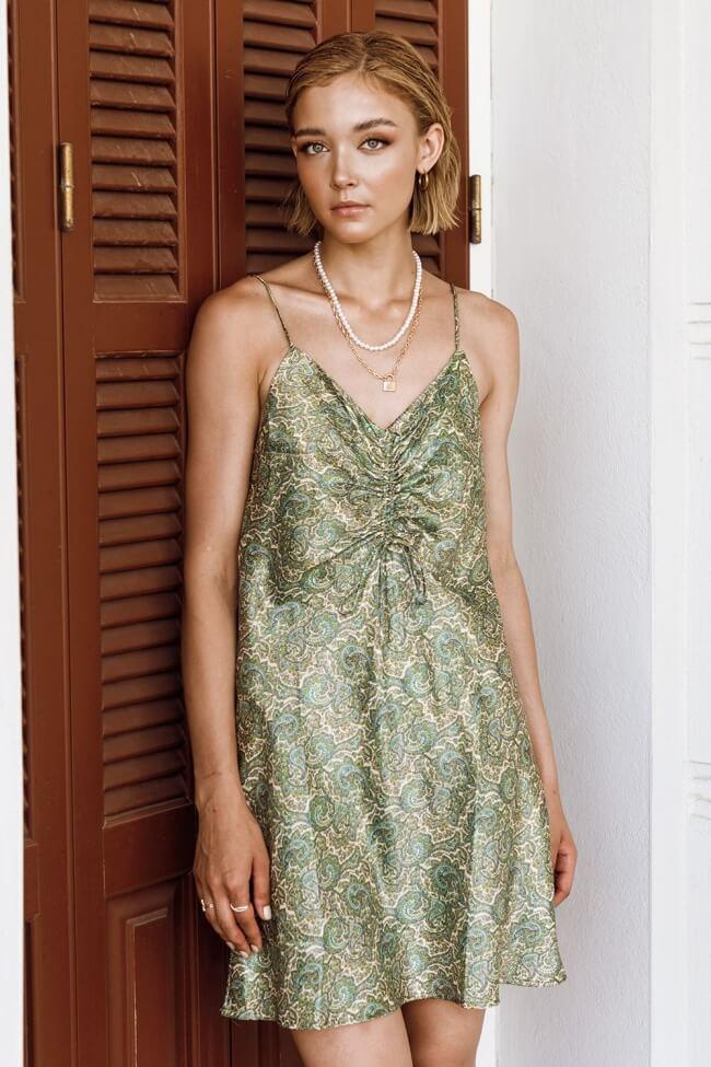Φόρεμα Mini Σατέν Boho