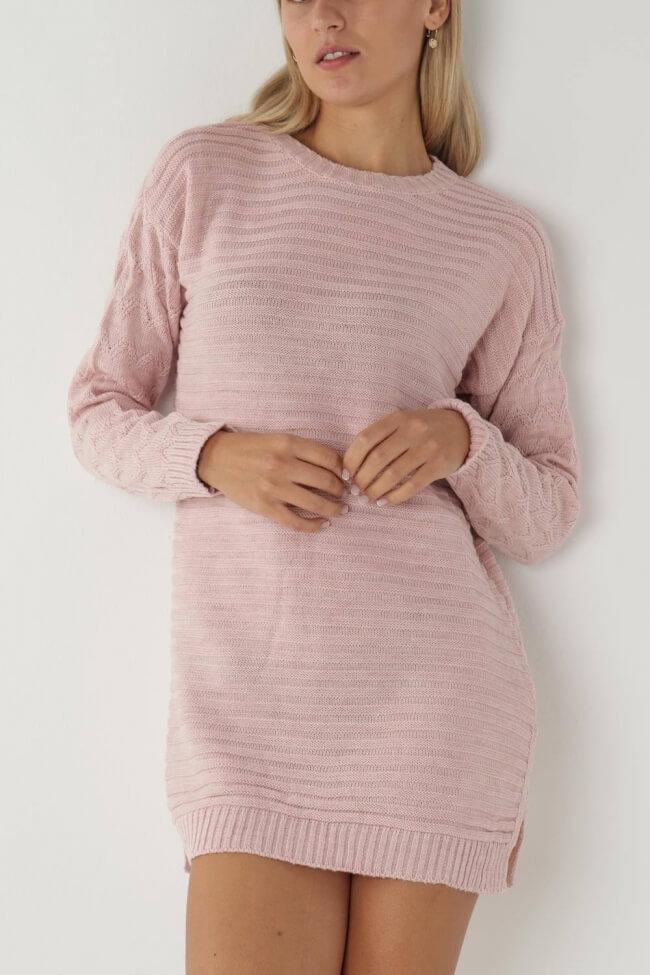 Φόρεμα Πλεκτό με Οριζόντια Πλέξη