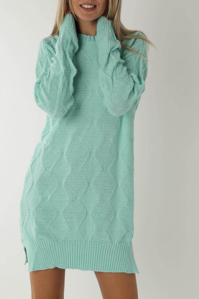 Φόρεμα Πλεκτό με Ρόμβους