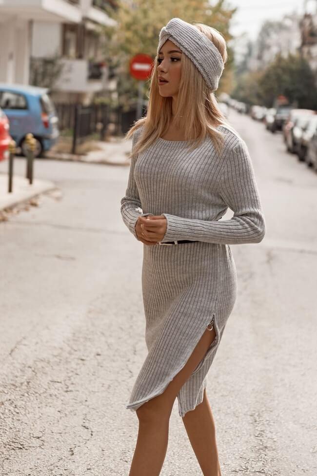 Φόρεμα Πλεκτό με Τουρμπάνι