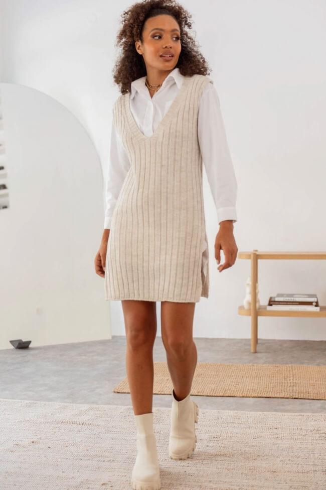 Φόρεμα Πλεκτό Χωρίς Μανίκια