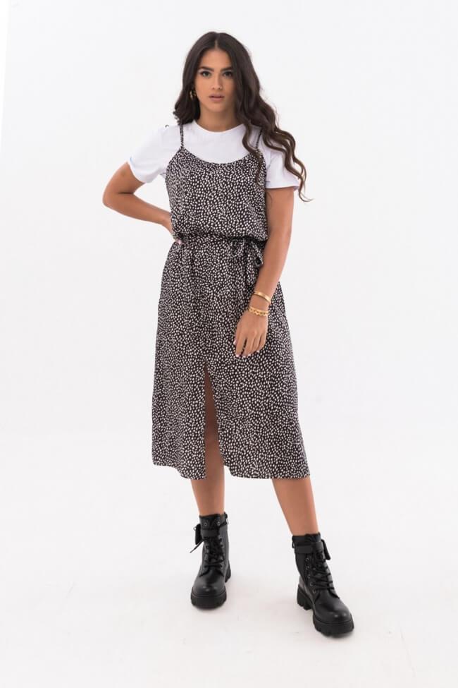 Φόρεμα Πουά με T-Shirt