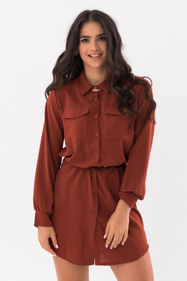Φόρεμα Πουκάμισο με Ζώνη